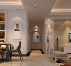 100平米简欧客厅走廊装修效果图