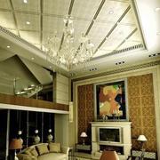 现代精装客厅吊顶