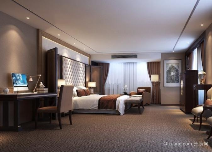 新中式酒店套间装修效果图