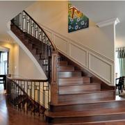 实木楼梯扶手设计
