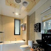 都市舒适的卫生间浴室