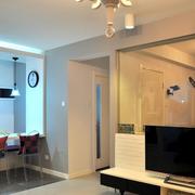 温暖橙色客厅设计