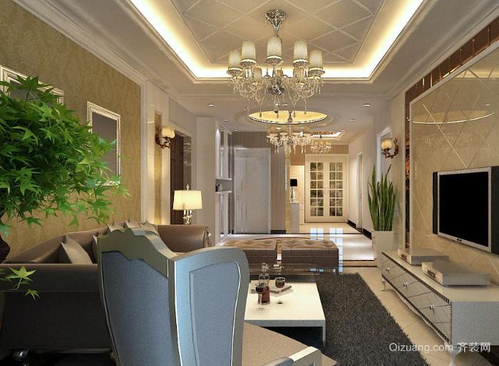 结构简练大气的简欧风格客厅装修效果图
