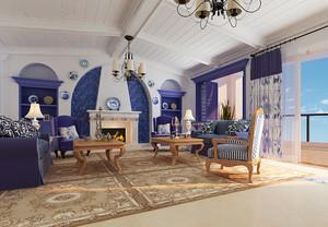 90平米地中海风格装潢设计效果图