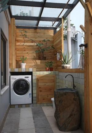 小户型现代简约风格生活阳台装修效果图