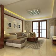浅淡中式客厅效果图