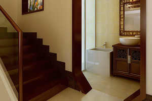 弘扬中国风 三居室室内楼梯设计装修效果图鉴赏