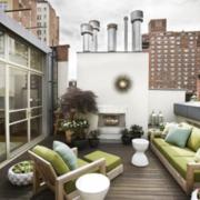 视野开阔的阳台设计