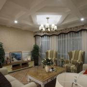 美式客厅石膏板吊顶