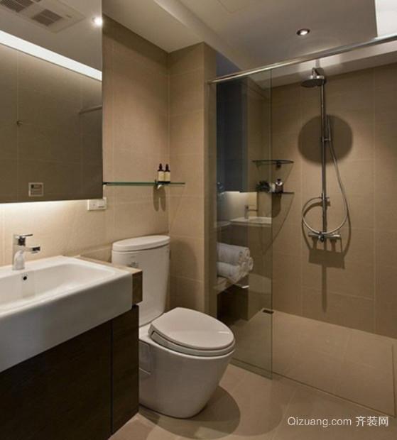 20平米现代简约精美小卫生间装修效果图