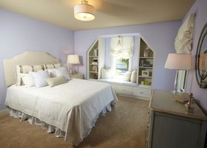 三室一厅时尚卧室储物飘窗装修效果图