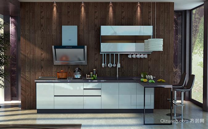 2015大气典雅欧式厨房金牌厨柜装修效果图