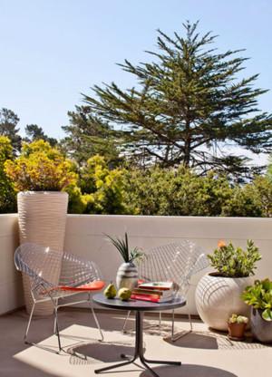 简欧风格的阳台花园设计装修效果图欣赏