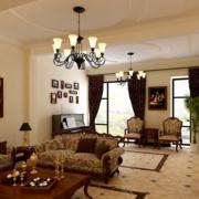 美式室内窗帘设计