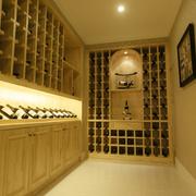 温暖黄色酒柜设计