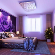 神秘紫色卧室设计
