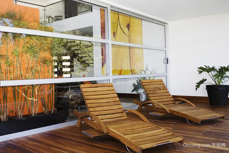 清新苍翠的阳台花园设计装修效果图欣赏