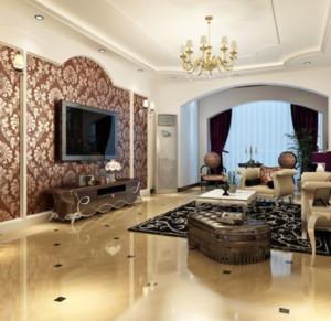 优雅唯美的简欧风格客厅飘窗装修效果图