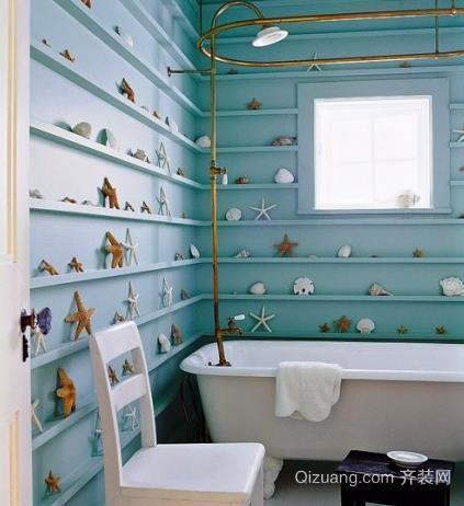 三室两厅两卫地中海风格浴室装修效果图