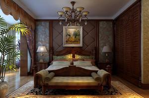 大户型美式乡村风格卧室背景墙装修效果图大全欣赏