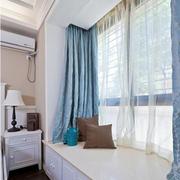 清爽飘逸的窗帘设计