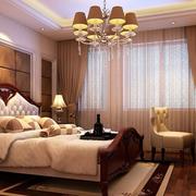 舒适卧室飘窗窗帘设计