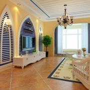 轻松地中海客厅设计
