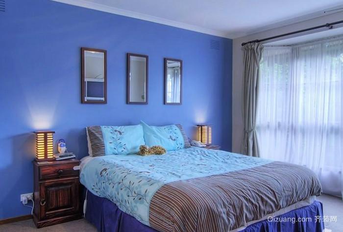 浪漫梦幻蓝色系卧室装修效果图
