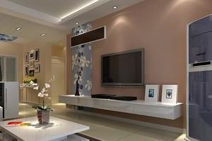 现代简约两室一厅家居瓷砖踢脚线装修效果图