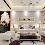 纯白素色欧式客厅