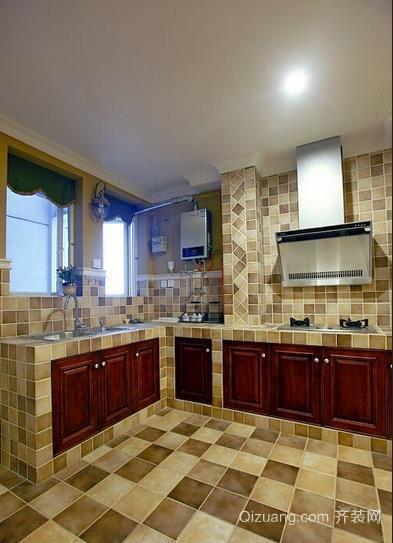 既省钱又实用厨房砖砌橱柜装修设计效果图