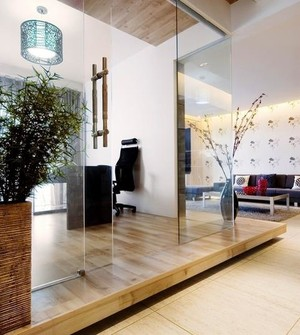 自住型商品房客厅生态木地板装修效果图