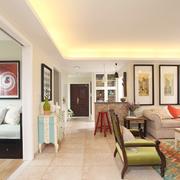 纯情色彩客厅设计
