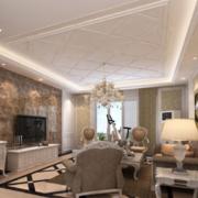欧式客厅瓷砖背景墙