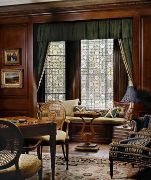 精致中式客厅飘窗