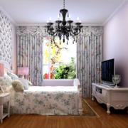 韩式卧室窗帘设计