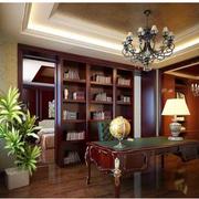 现代书房实木书柜设计