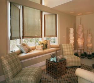 90平米简约欧式客厅飘窗装修效果图