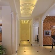 欧式走廊灯光设计