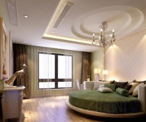 50平米欧式卧室石膏板内嵌圆形装修效果图