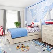 色调温馨的儿童房设计