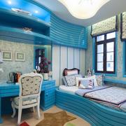经典蓝色儿童房