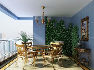 恬淡雅致的法式风格阳台花园设计装修效果图欣赏