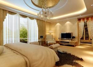 大户型欧式田园风格卧室背景墙装修效果图