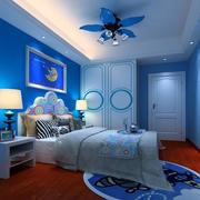 轻松蓝色儿童房