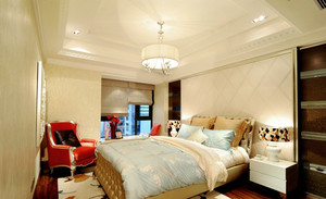 亮色卧室灯光设计