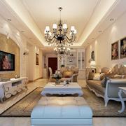 豪华大方的欧式客厅设计