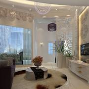 舒适清爽的欧式客厅