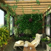 舒适阳台实木吊顶