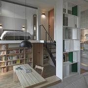 现代舒心的书房吊顶